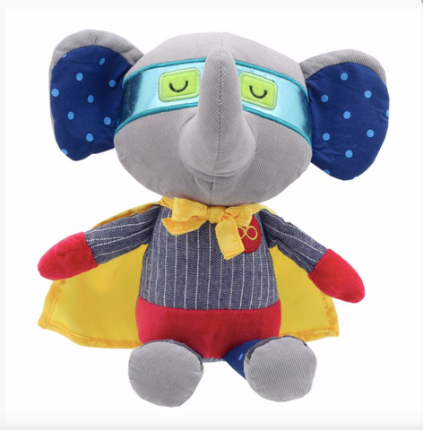 Wilberry Elephant Super Hero - Snuggles and Kisses