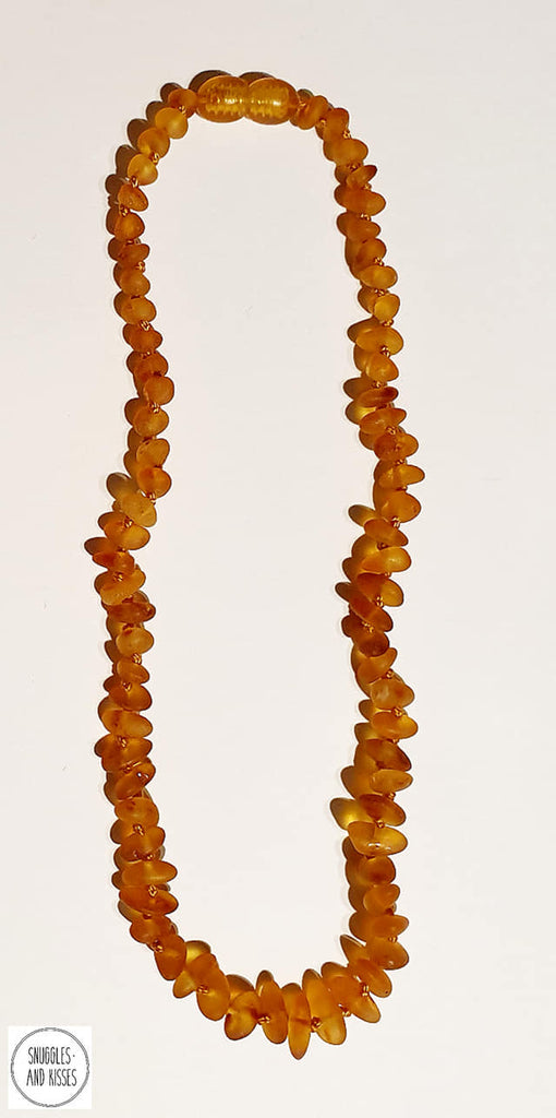 Raw Baltic Amber Baby/Childrens Teething Necklace - Snuggles and Kisses