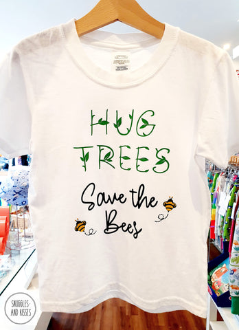 Kids 'Hug Trees Save the Bees' T-Shirt