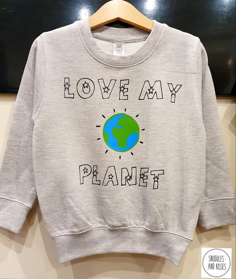 Kids 'Love my Planet' Sweatshirt - Snuggles and Kisses