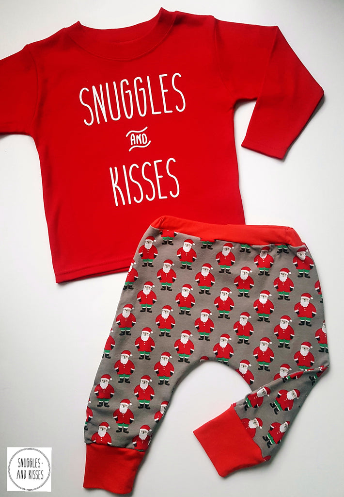 Baggies-Santa Print - Snuggles and Kisses
