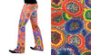 Psychedelic, Flares, Flower Power, Flower print, Holographic, Rainbow, Meggings, Leggings, Burning Man, Festival, Clothing, Men, Made in the USA, Revolver Fashion, Los Angeles.