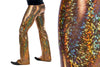 Disco Ball, Flares, Holographic, Gold, Meggings, Made in the USA, Leggings, Burning Man, Festival, Clothing, Men, Revolver Fashion, Los Angeles.