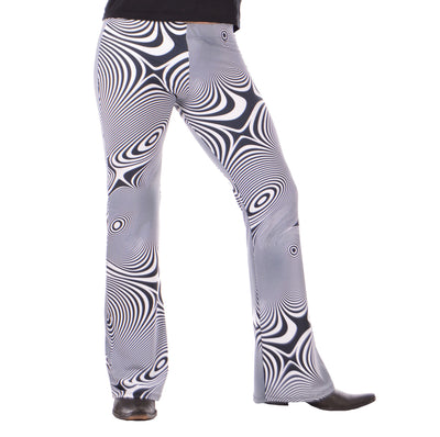 Vertigo, Psychedelic, Flares, Meggings, Leggings, Burning Man, Festival, Clothing, Men, Made in the USA, Revolver Fashion, Los Angeles.