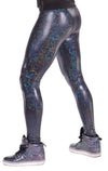 Disco Ball, Holographic, White, Meggings, Leggings, Made in the USA, Burning Man, Festival, Clothing, Men, Revolver Fashion, Los Angeles.