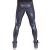 Disco Ball, Holographic, Made in the USA, White, Meggings, Leggings, Burning Man, Festival, Clothing, Men, Revolver Fashion, Los Angeles.
