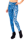 blue, leopard print, leopard, animal print, costume, music festival, womens leggings, cute, sexy, clothing legging, made in usa, revolver fashion, coachella, burning man, outfit, spandex