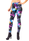 Space, Space print, Glow in the dark, UV reactive, UV light, costume, music festival, womens, womens leggings, cute, sexy, clothing, legging, made in usa, revolver fashion, coachella, burning man, outfit, spandex