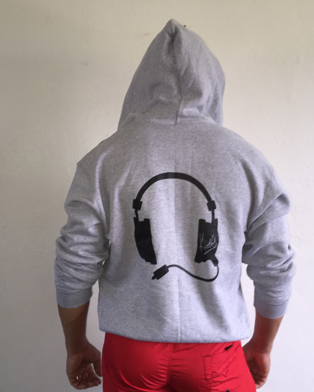 Headphone Hoodie Grey / Black