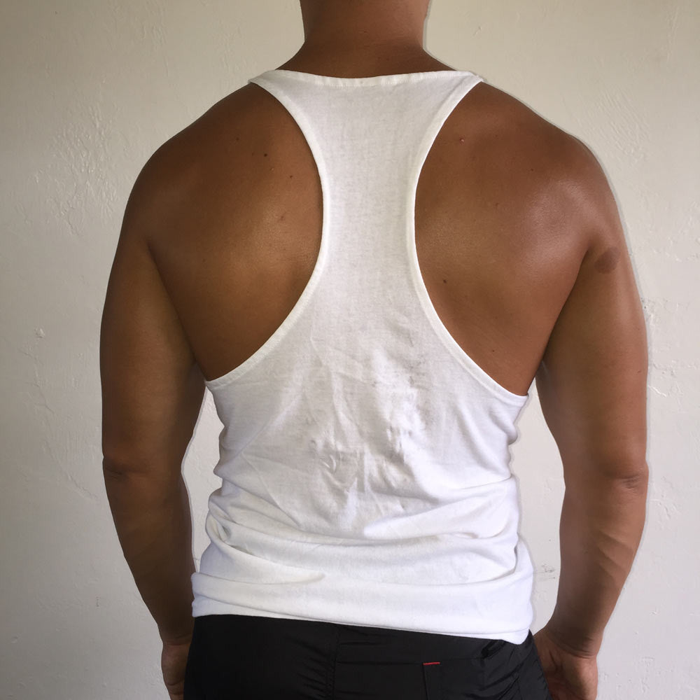 Muscle Tank White / Silver