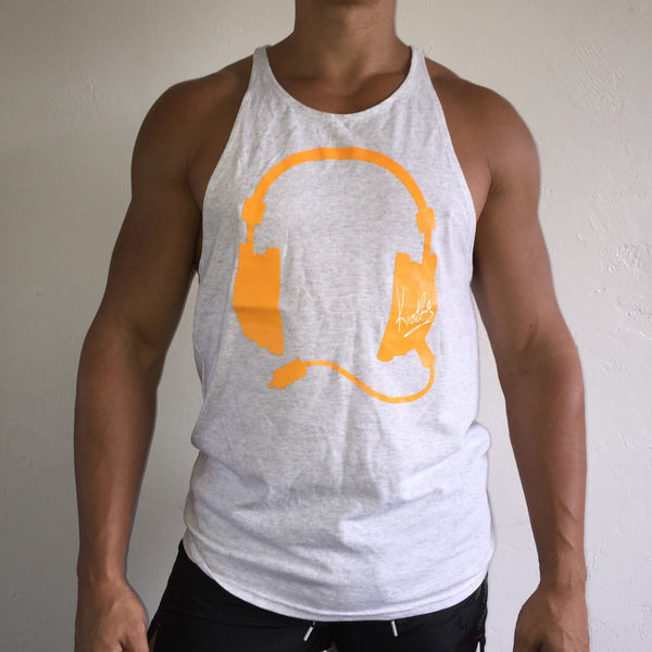 Muscle Tank Grey / Orange
