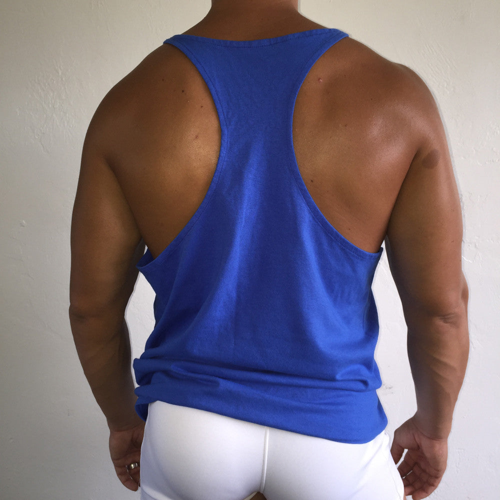 Muscle Tank Blue / Yellow