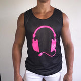 Reversible Tank Black / Pink/ White