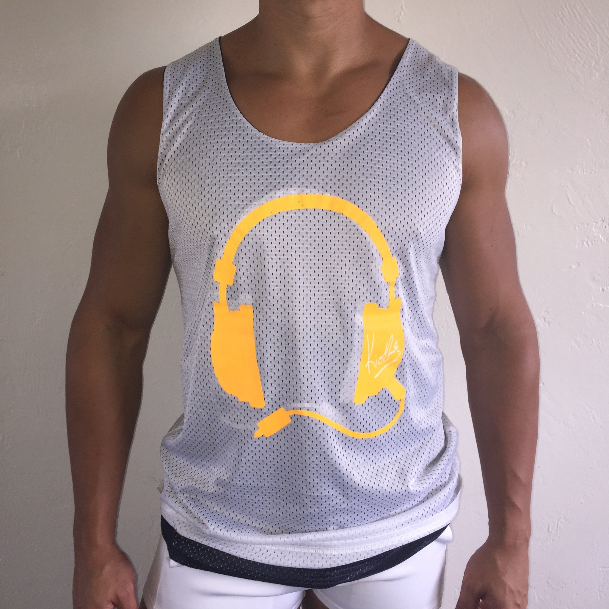 Reversible Tank Navy / Lt Orange  / White
