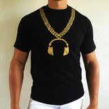 Gold Chain Headphone Tee