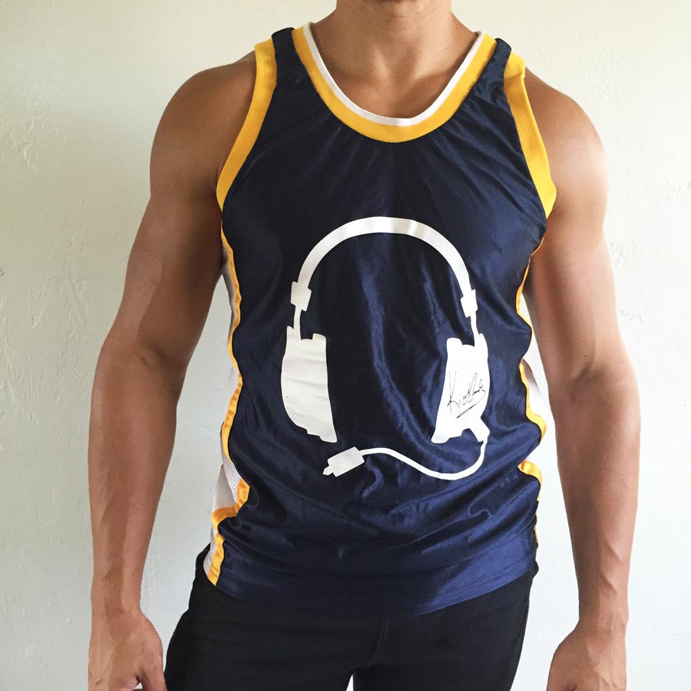 Navy Jersey / Yellow