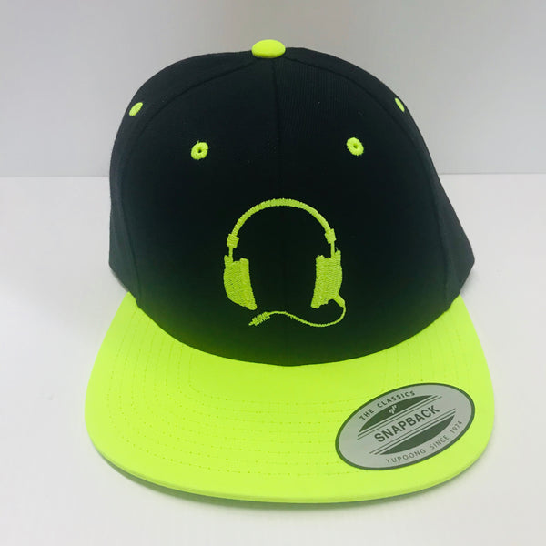 Black with yellow cap /Neon yellow  logo