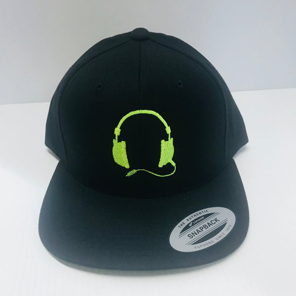 Black cap /Neon yellow  logo
