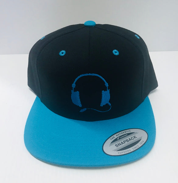 Black with blue cap / blue logo
