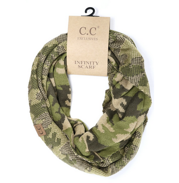 Women's Camouflage Print CC Infinity Scarf