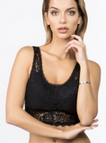 Women's Padded Detailed Lace Bralette Bra