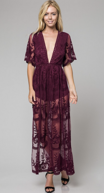 The Love Lace Maxi Dress with Lining