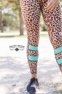 Crazy Train Lounging Leopard Yoga Pant