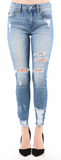 Kancan Womens Ankle Distressed Skinny Jeans KC5056M