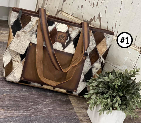 Sts Ranchwear Diamond Cowhide Collection Basic Tote Bag