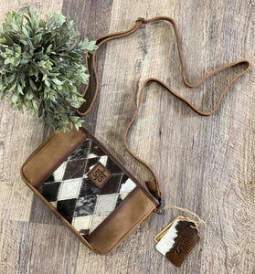 Sts Ranchwear Diamond Cowhide Simple Crossbody Bag