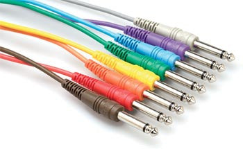 "Hosa 1/4"" TS to 1/4"" TS, Patch Cable - 3' - Waveformless"