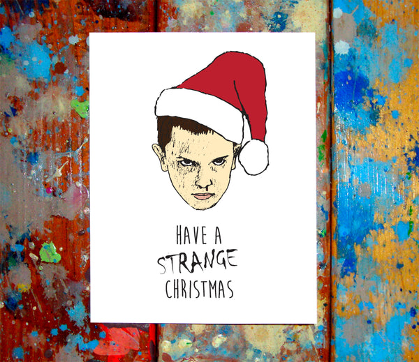11 Stranger Things Merry Christmas Card