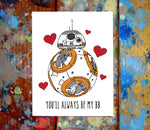 BB8 I Love You Card