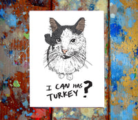 Cat Happy Thanksgiving Card