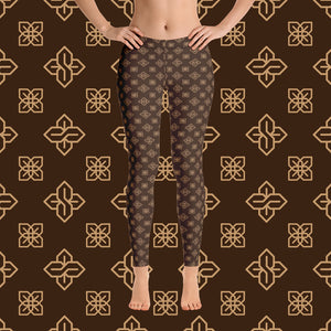 Sopearb1999 Cool S All Over Print Leggings - Style 3 Brown