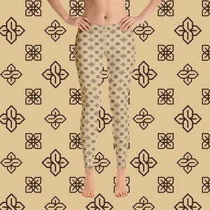 Sopearb1999 Cool S All Over Print Leggings - Style 2 Tan