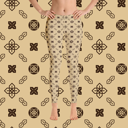 Sopearb1999 Cool S All Over Print Leggings - Style 5 Tan