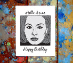 Adele Birthday Card