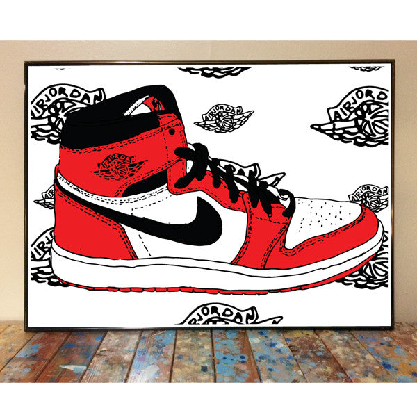 detailing thoughts on new style Air Jordan 1 Art Print
