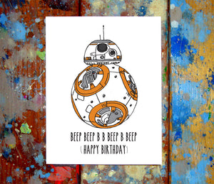 BB8 Birthday Card