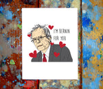 Bernie Sanders I Love You Card