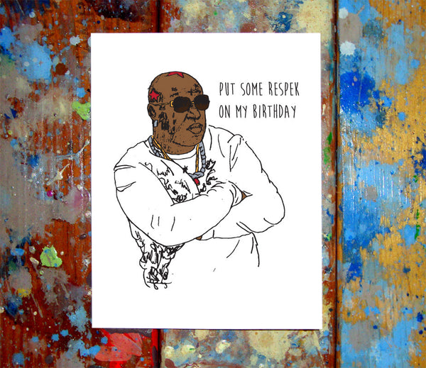 Birdman Birthday Card