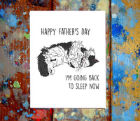 Cat Father's Day Greeting Card