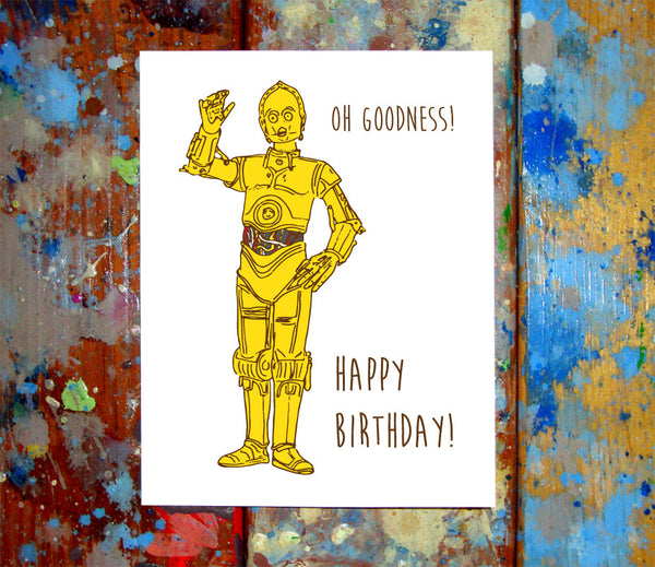 C-3PO Birthday Card