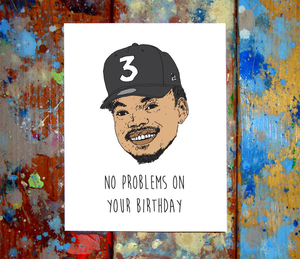 Chance The Rapper Birthday Card
