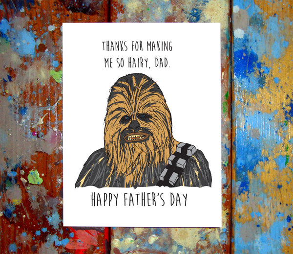 Chewbacca Father's Day Greeting Card