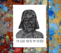 Darth Vader Father's Day Greeting Card