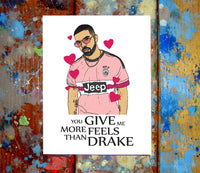 the best attitude 88713 cd893 Drake Juventus Jersey I Love You Card