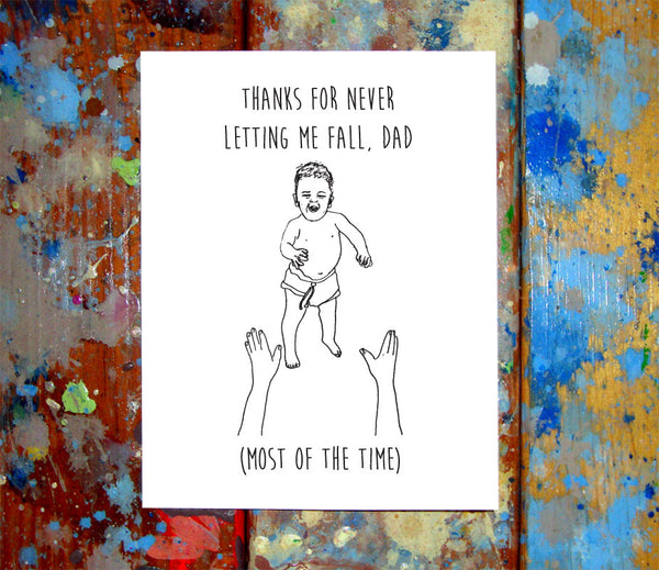 Baby Toss Father's Day Greeting Card