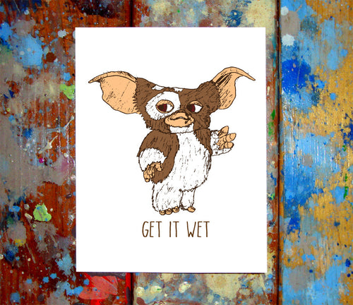 Gizmo Get It Wet Card